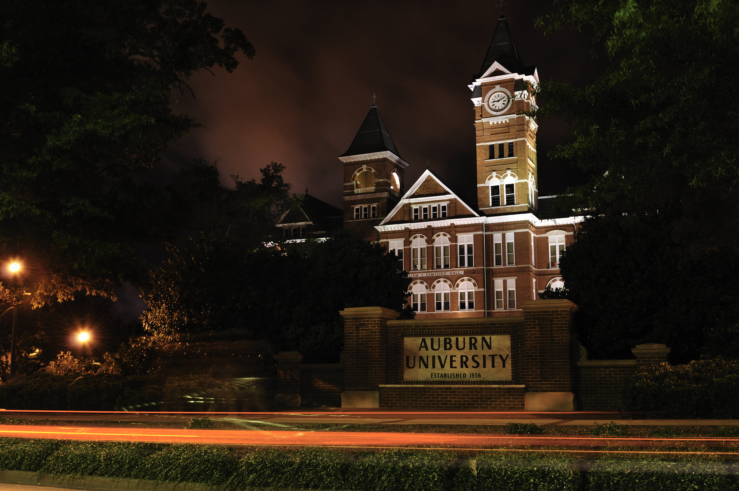 Samford Hall Night Lights
