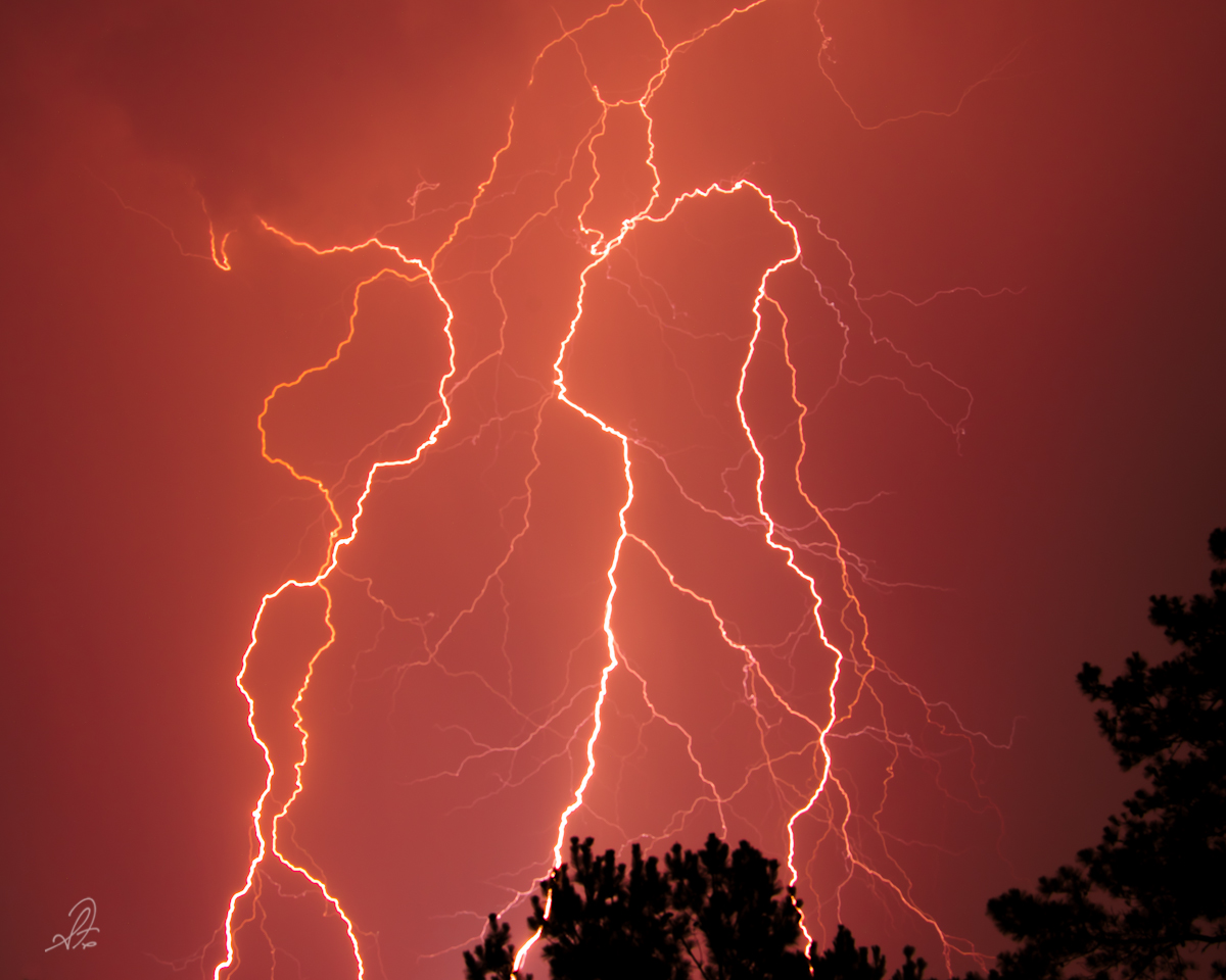 Summer Lightning Storm in Alabama