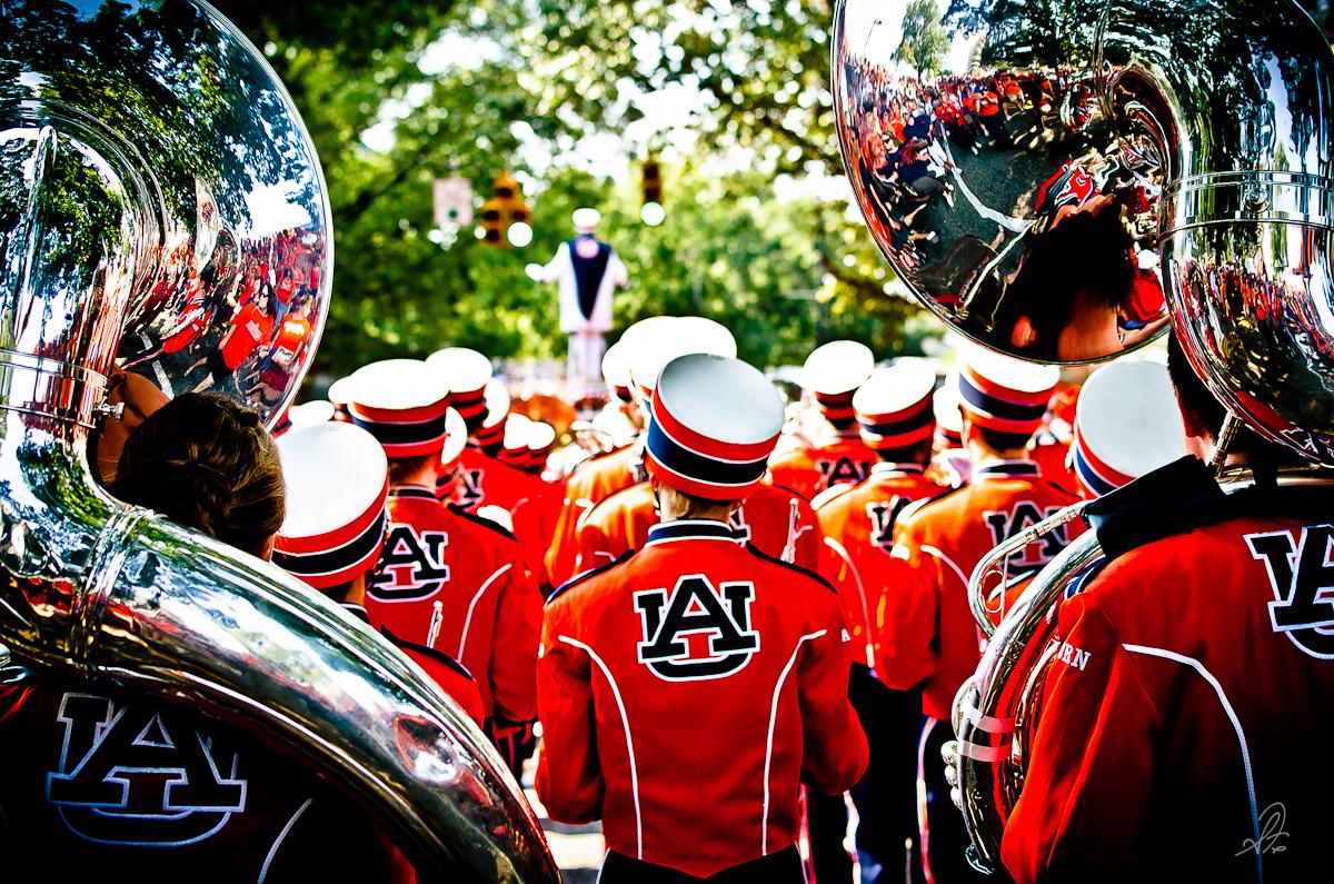 Auburn Marching Band Before the Utah State Game