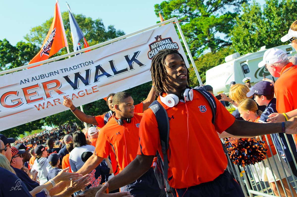 Tiger Walk for Auburn vs MSU