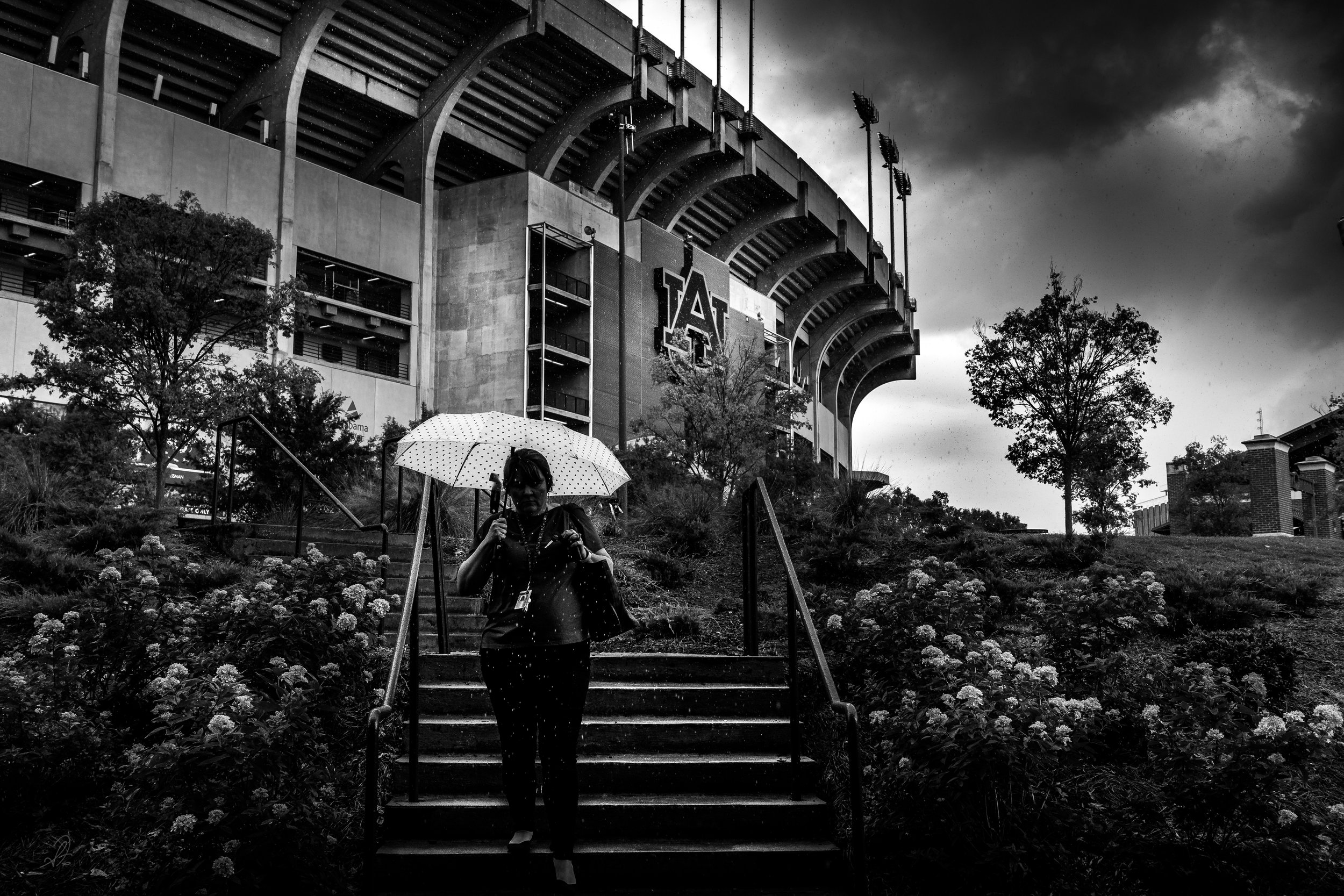Jordan-Hare Rainy Day