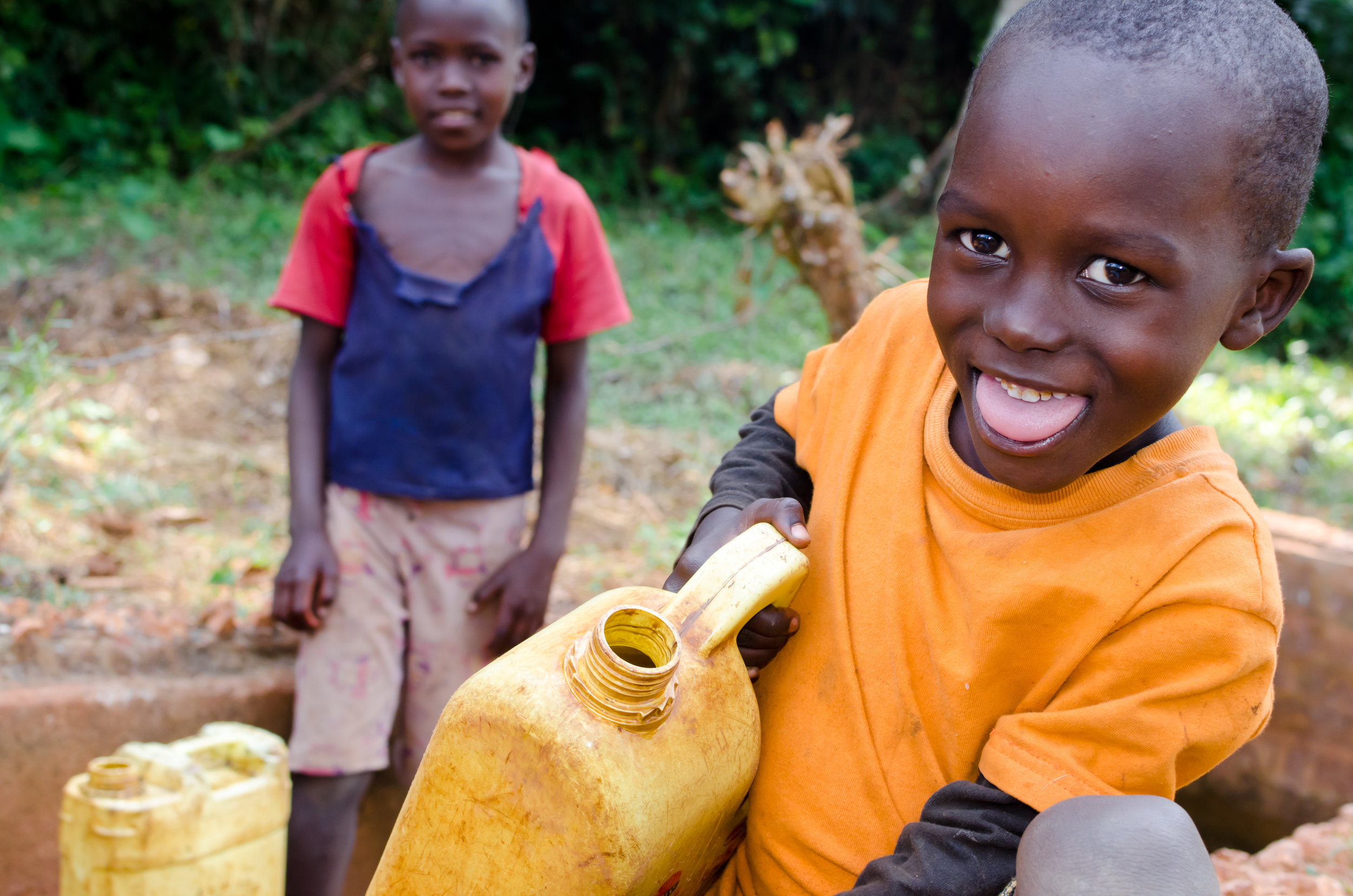 Kids Getting Water from the Well