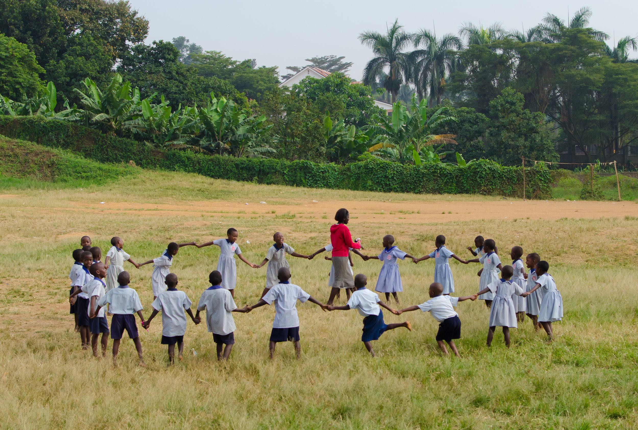 School Playtime in Uganda