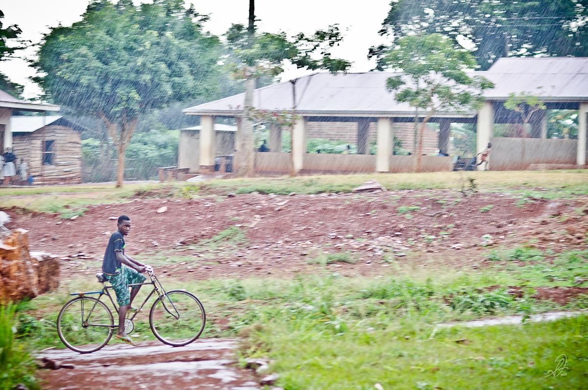 Riding a Bike in the Rain