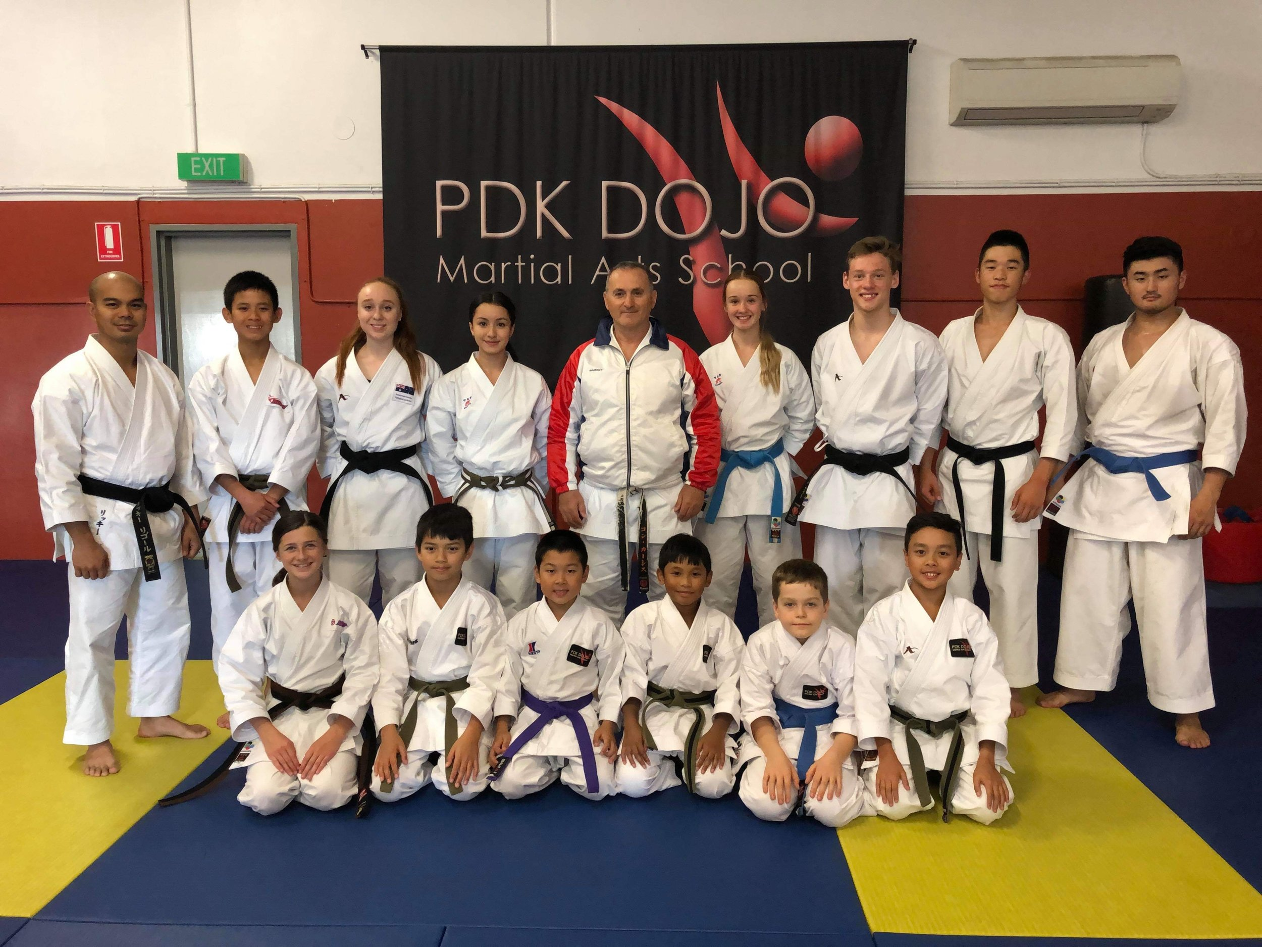 Team Photo with Sensei Con Kassis 8th Dan Black Belt