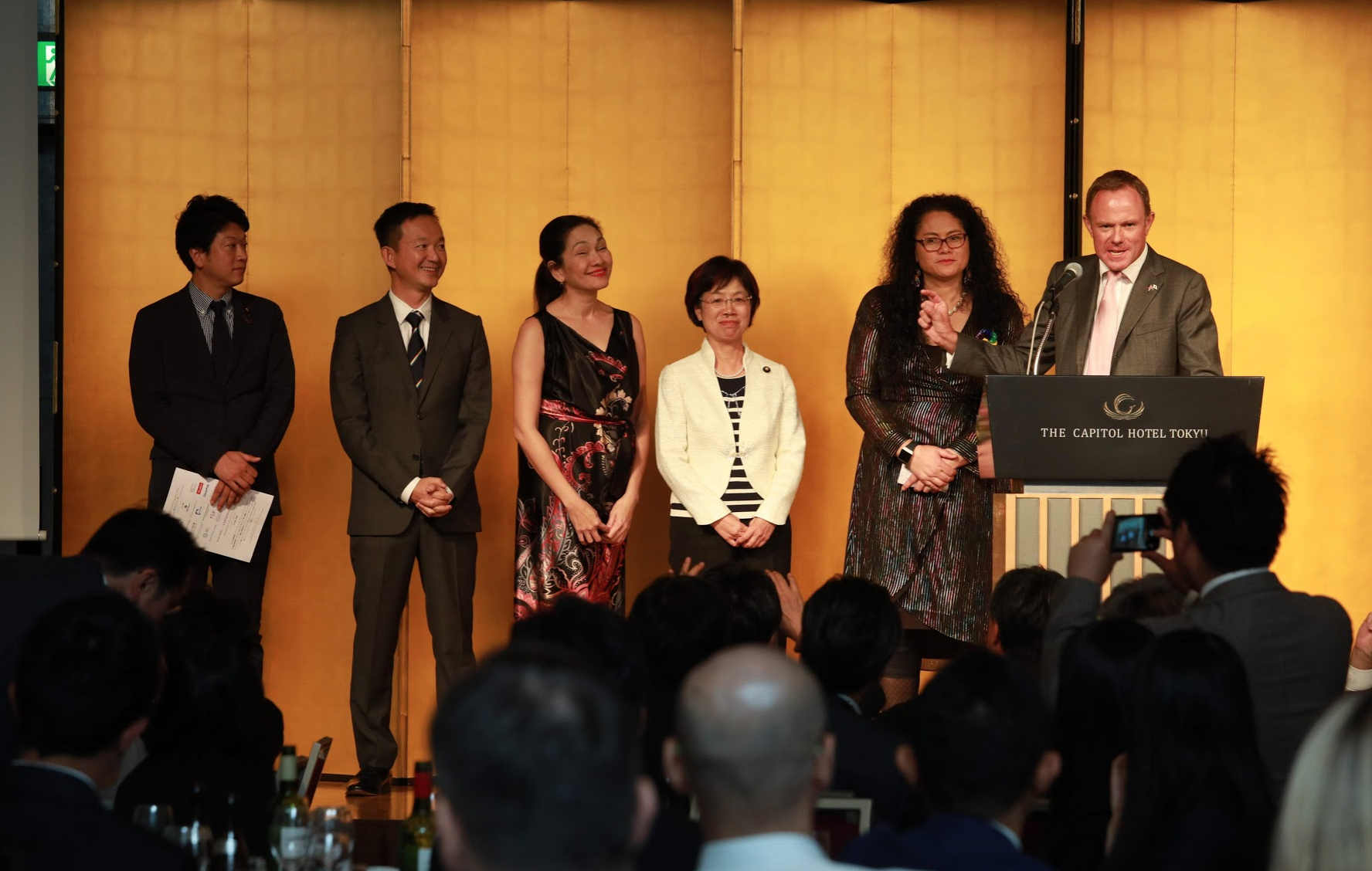 Members of the Global Equality Caucus at the LLAN Equality Gala, hosted at the Capitol Hotel Tokyu.  © Global Equality Caucus