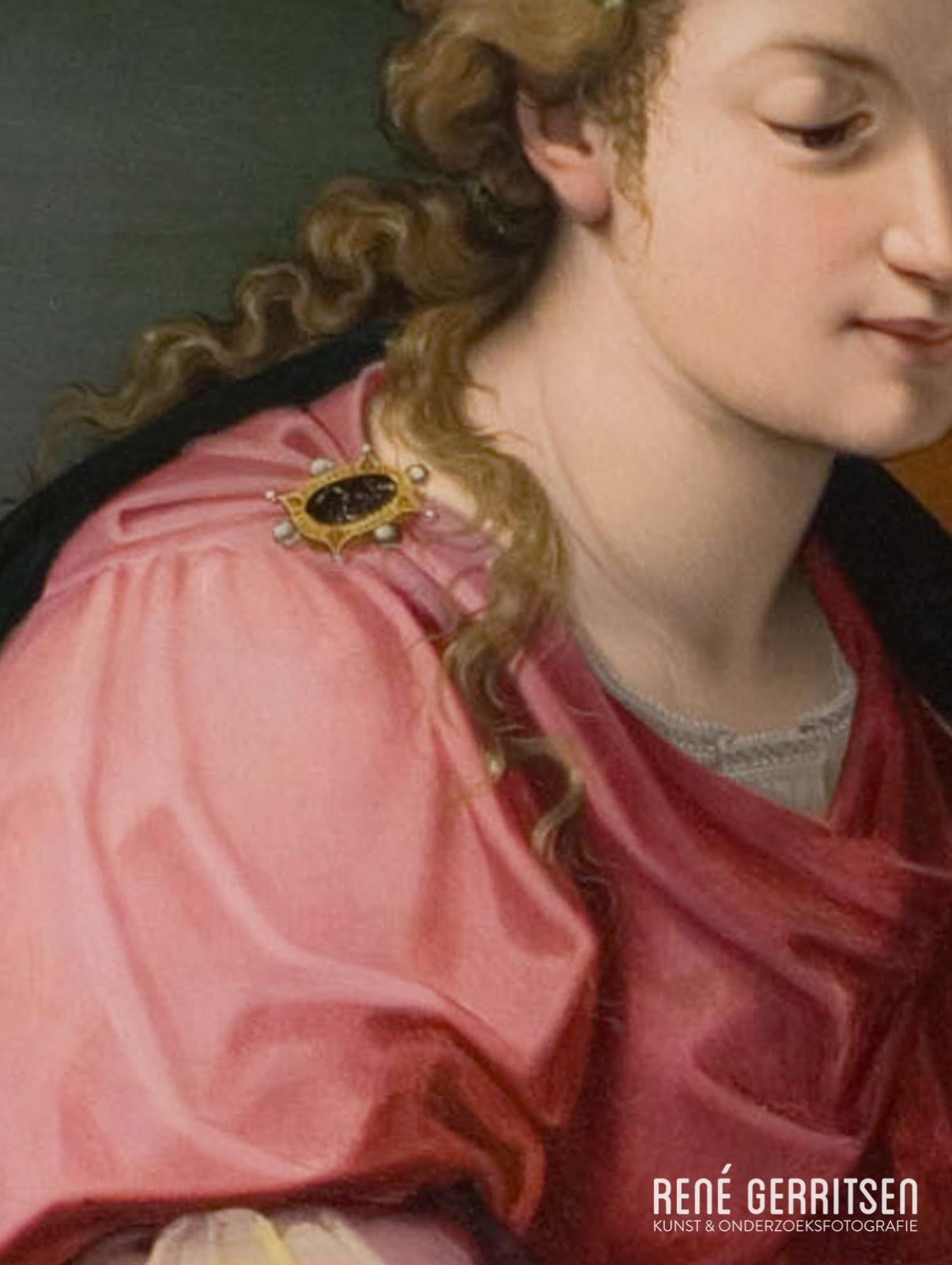 Normaal licht - detail 16e eeuws paneel