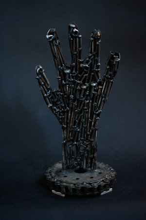 BERBERA. Untitled Hand. 2014. Stainless steel H. 10""