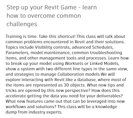 Step up your Revit Game - learn how to overcome common challenges