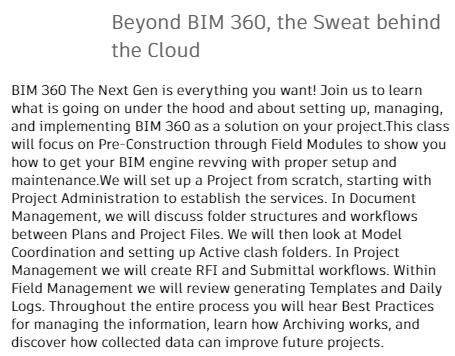Beyond BIM 360, the Sweat behind the Cloud