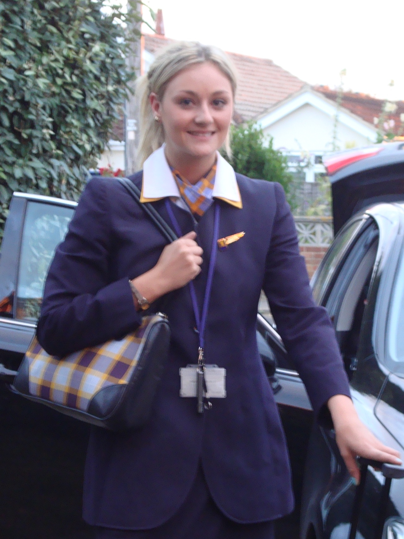 This was the old me, working as a flight attendant and not looking after myself. Just looking at this photo reminds me of how uncomfortable I used to be all the time. I feel better now than I did when I was ten years younger!