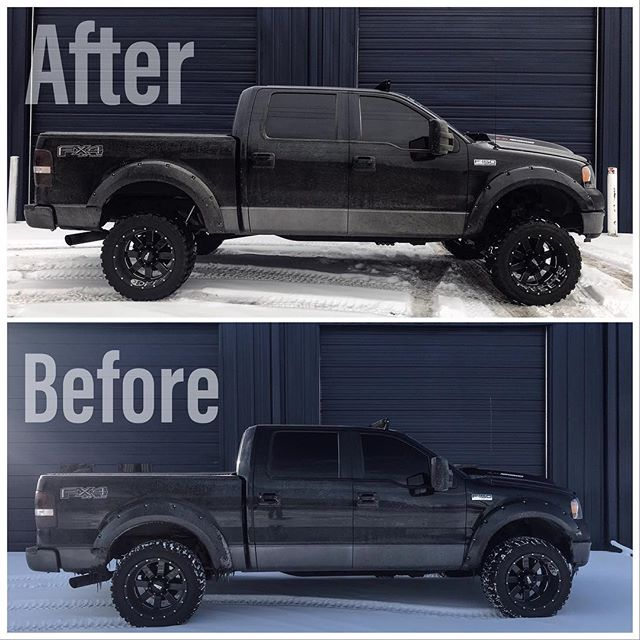 "This week we installed a 6"" @roughcountry lift on our customers '05 F150, here's the before and after! . . . . . . . . . #liftedtrucks #liftkit #trucks #ford #fordf150 #roughcountry #denver #denvertrucks #coloradotrucks #localbusiness"