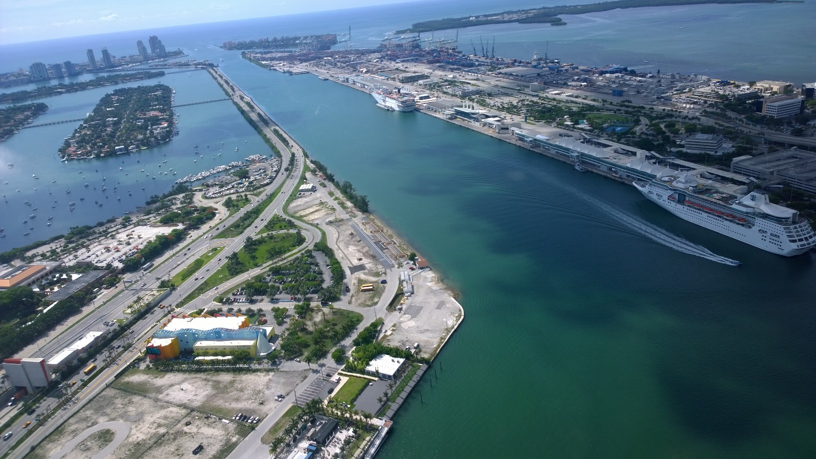 Miami Heliport Aerial Looking East