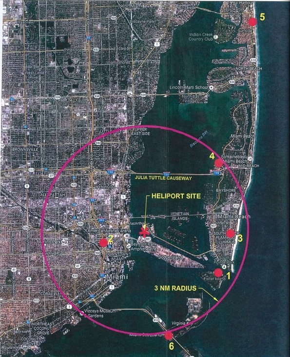 Miami Heliport Site Map