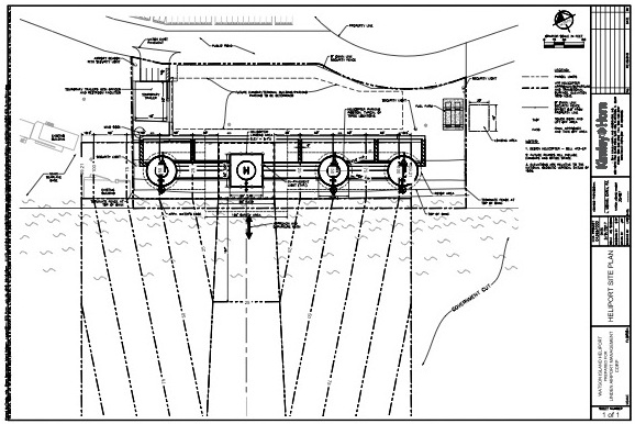 Miami Heliport Site Plan Blueprint