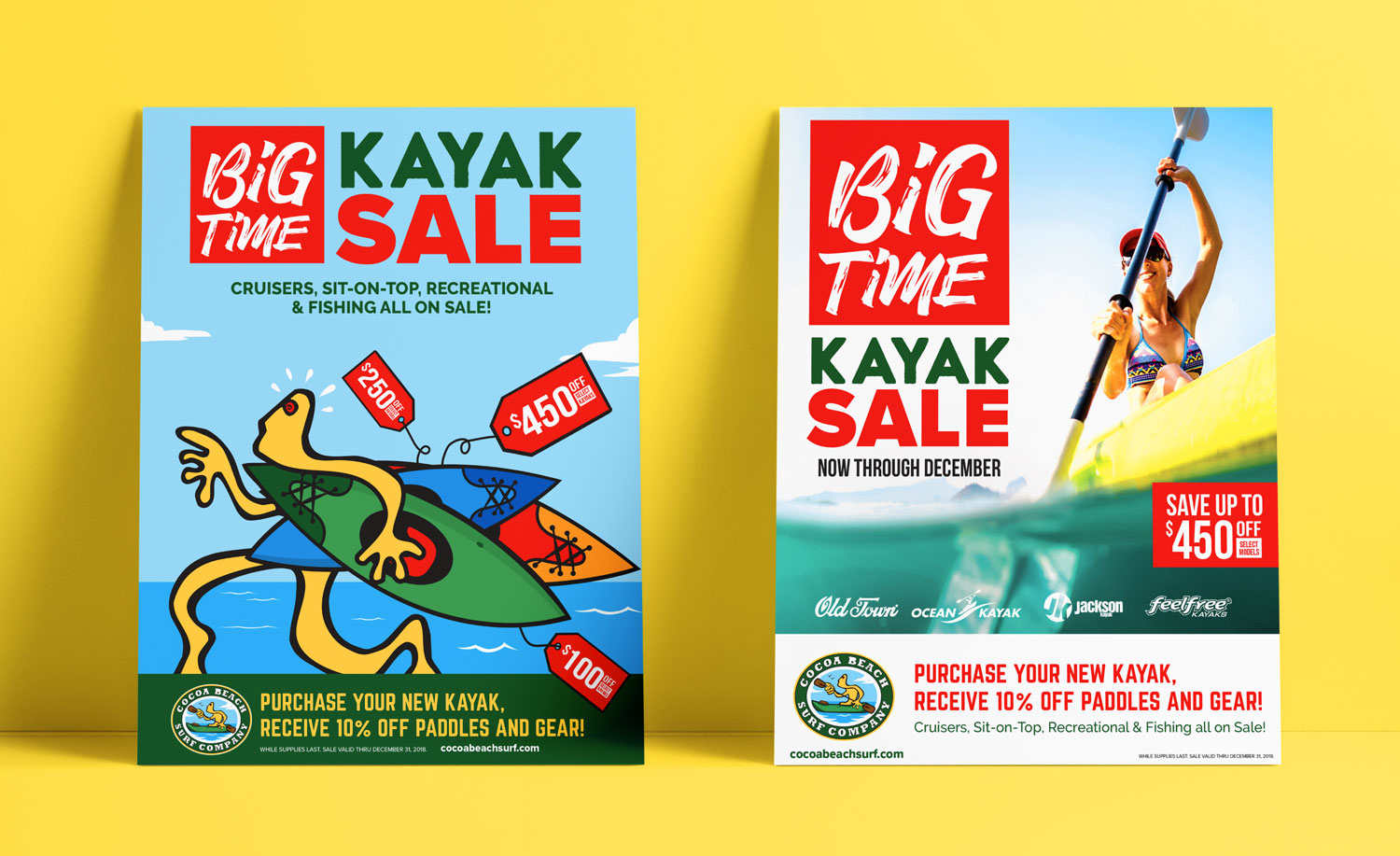 Poster and advertisement for Kayak Sale