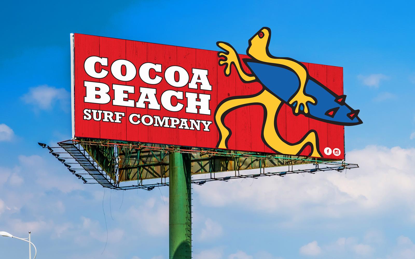 Cocoa Beach Surf Company Billboard design