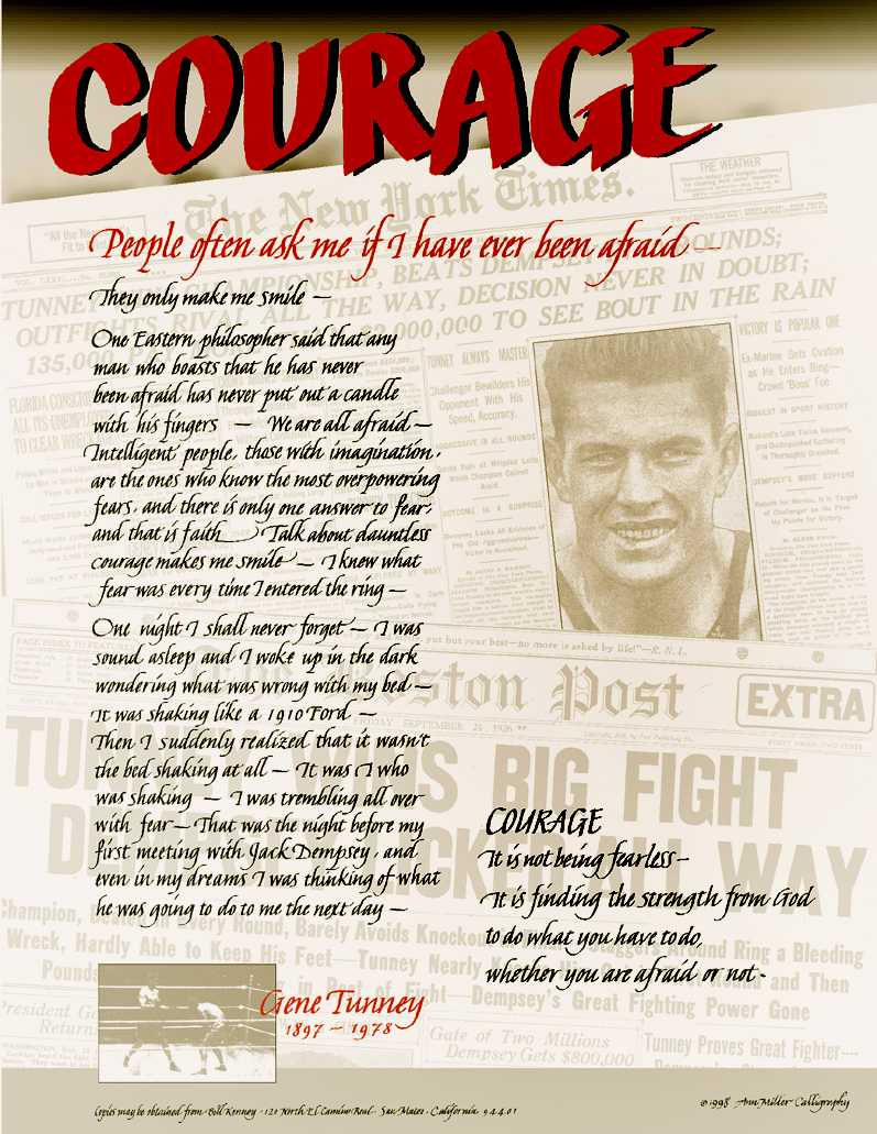 Gene Tunney on Courage
