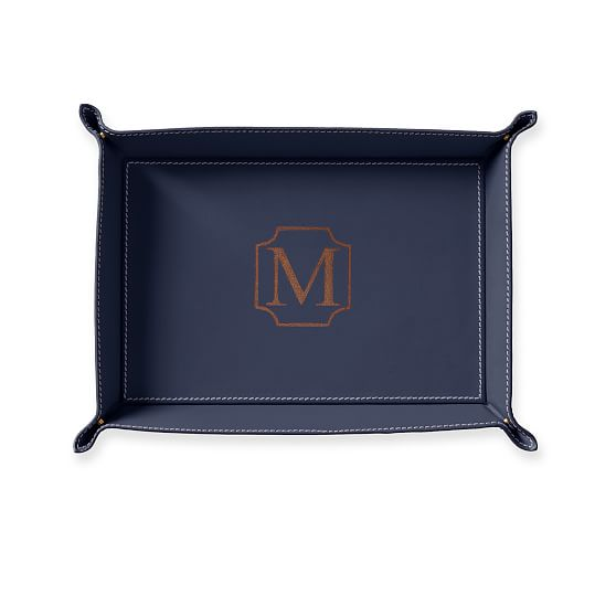 Mark & Graham Rustic Leather Catchall Tray