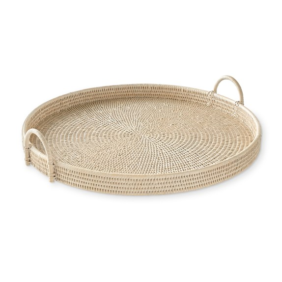 Hapao Round Tray, Light Wash