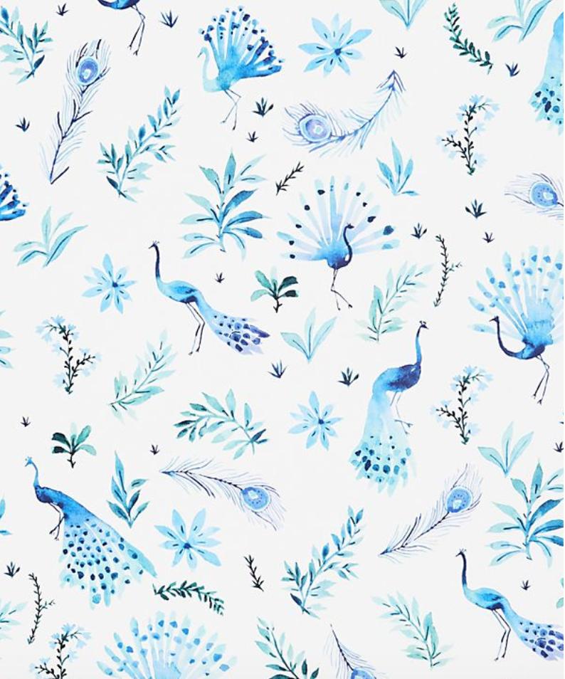 Vikki Chu Peacock Wallpaper