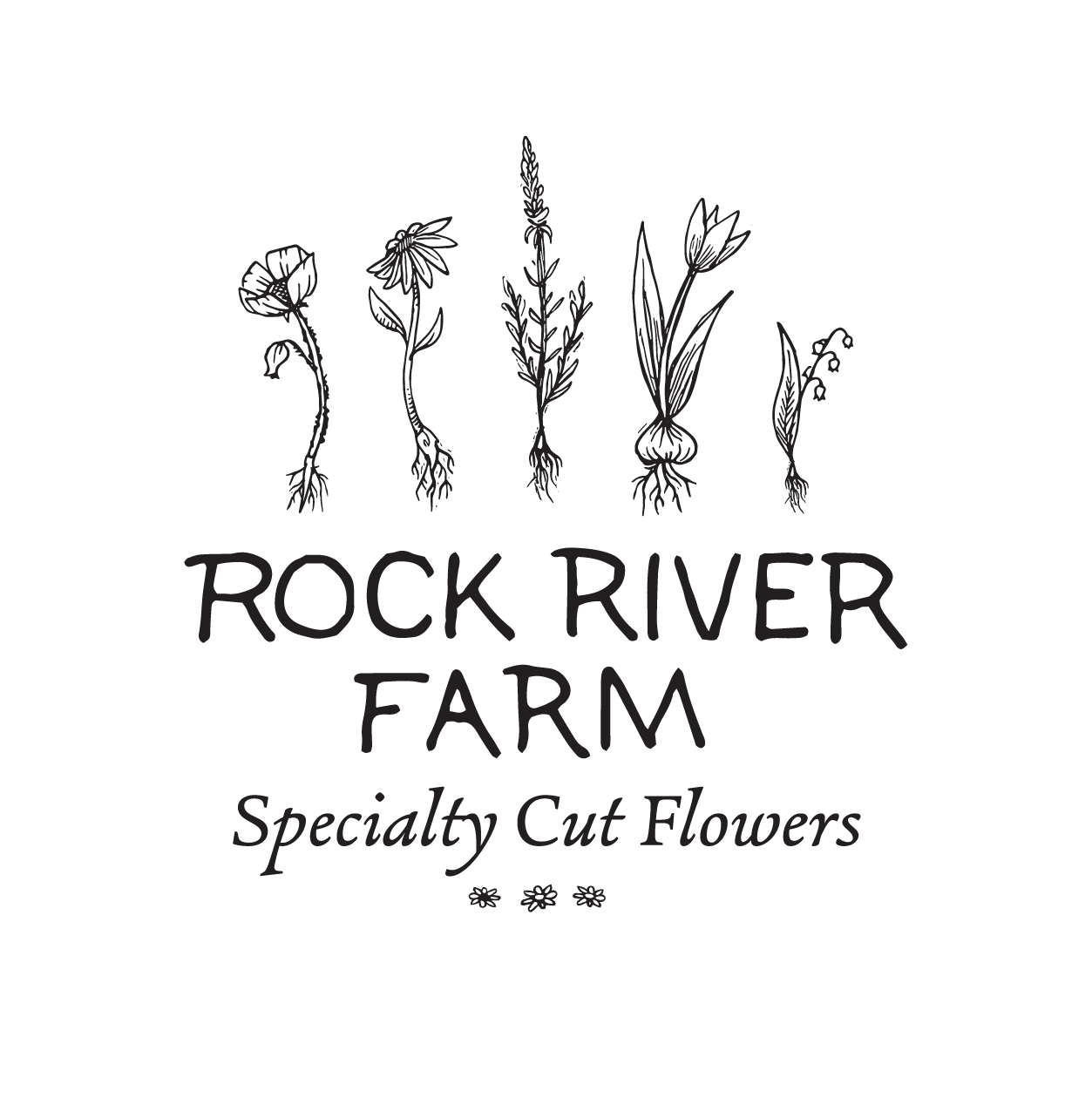 The final Rock River Farm logo: rooted firmly in natural grace and creative spirit.