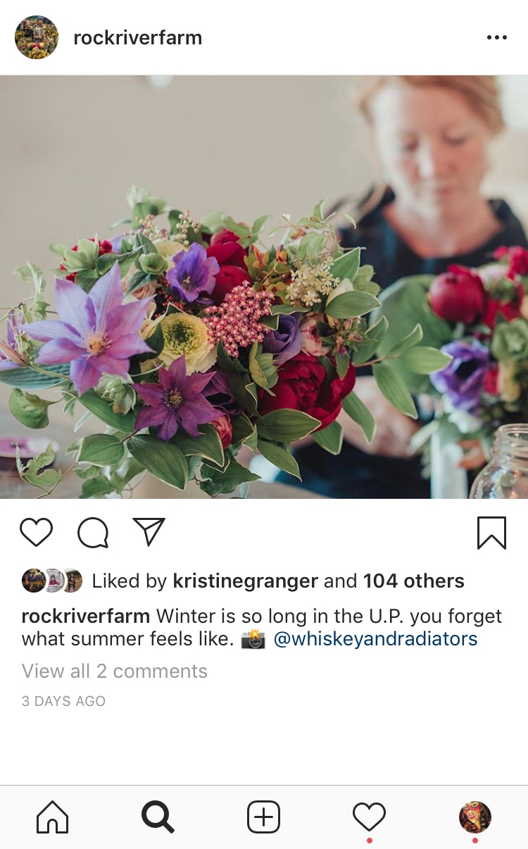 By deciding to make our final logo black and white, we let the vibrant colors of Rock River Farm's stunning bouquets and cut flowers shine.
