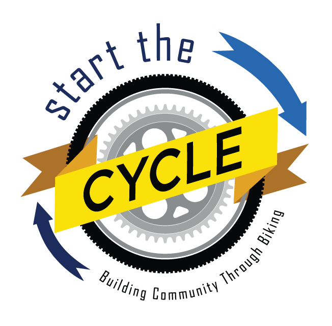 Start the Cycle needs to appeal to kids and adults alike. The logo had to be bright and readable, while clearly illustrating their mission. Always moving forward—shift into a low gear and pedal your heart out!