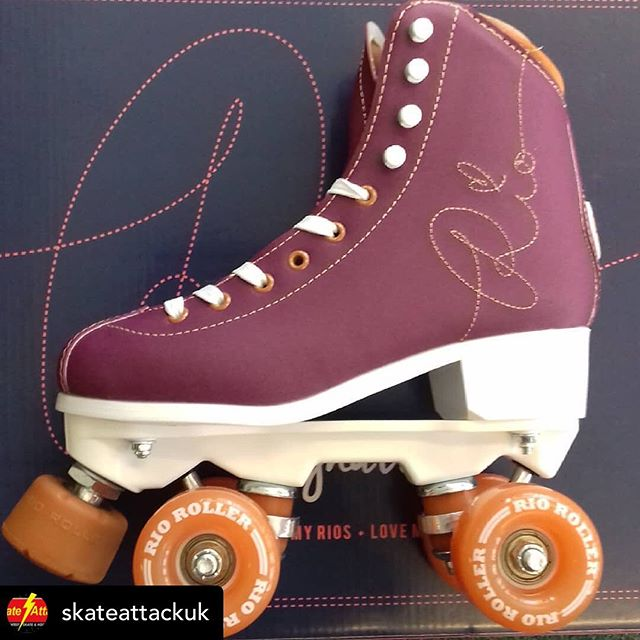 Looking for skates? Check out @skateattackuk they sell a whole range of skates!  Posted @withrepost • @skateattackuk Rio roller signature skates!  #riorollerskates #rioroller #rio #rollerskating #skating #discoskating #discoskate #roller #purpleskates #purple