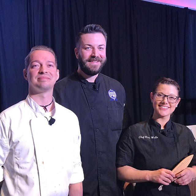 Huge congrats and thanks to these rockstar chefs from the #biggestlittlecity!  @chefalexdowning takes the win in the Battle Born Chef competition today @sparksnugget. @misskimbrulee from @sierra_st_kitchen and @brett1283 from @washoepublichouse also knocked the socks of the judges!  Special thanks to the whole crew here, all the sponsors and especially @towncutler for the handmade knives for each competing chef!  See you all here next year ;)