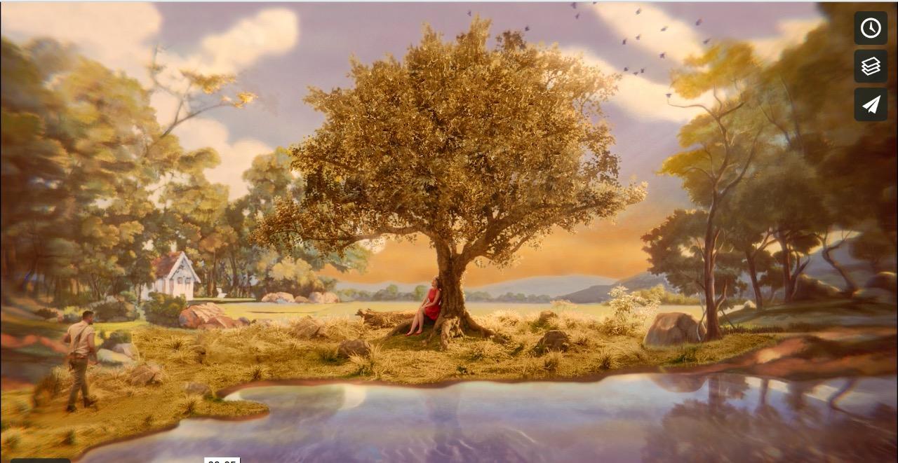 referência de árvore e clima bucólico