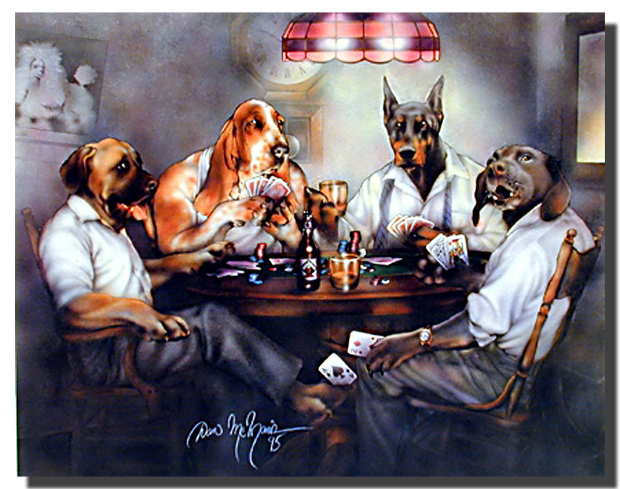 Dogs Playing Poker 04.JPG