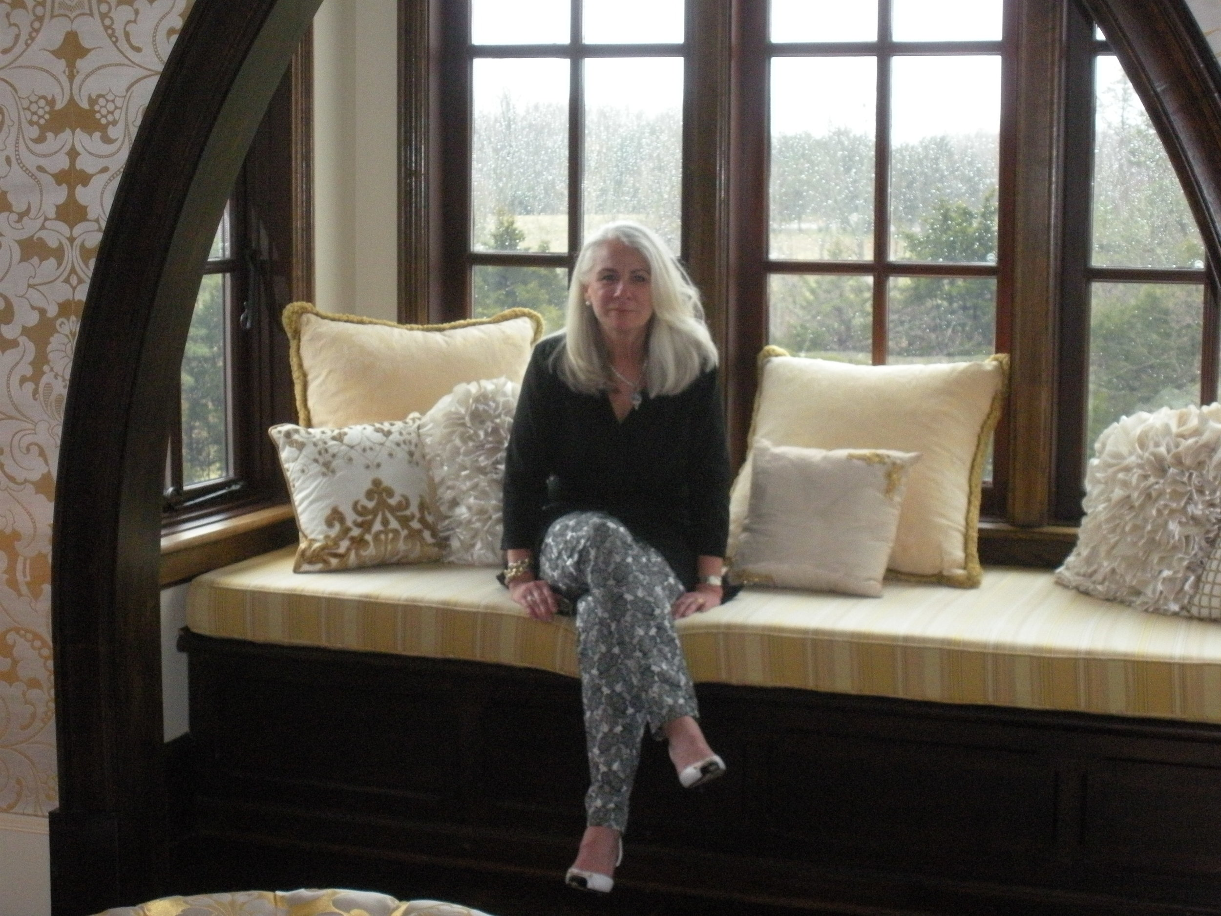A Day of Design at Dover Hall in Goochland, Virginia…sitting in an alcove of the master bedroom.