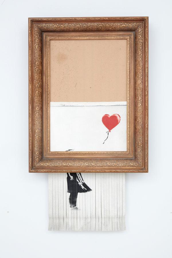 Girl With Balloon   Banksy   Shredded in 2018