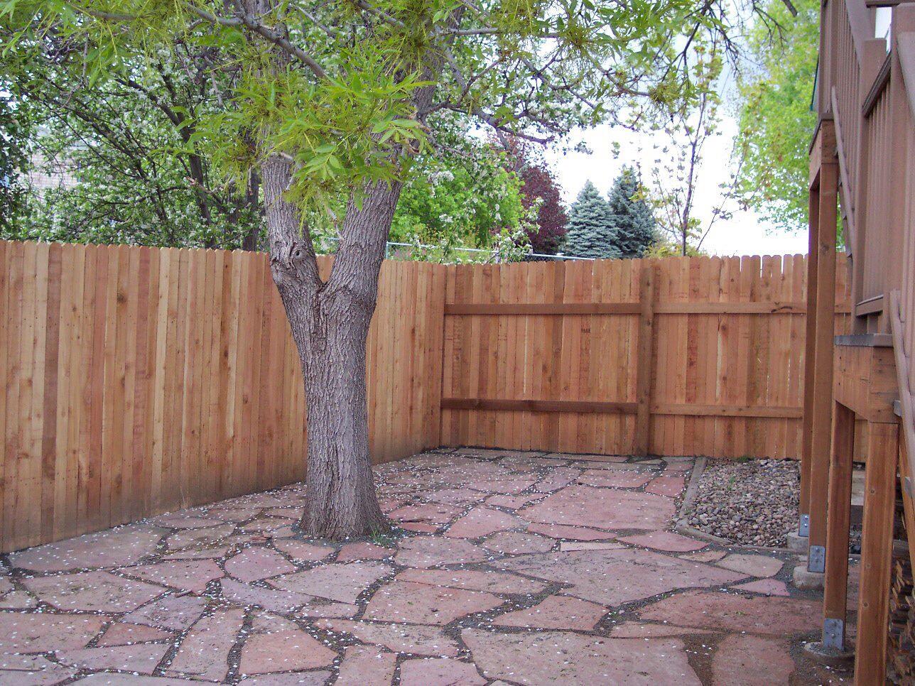 Flagstone patio and fence job.