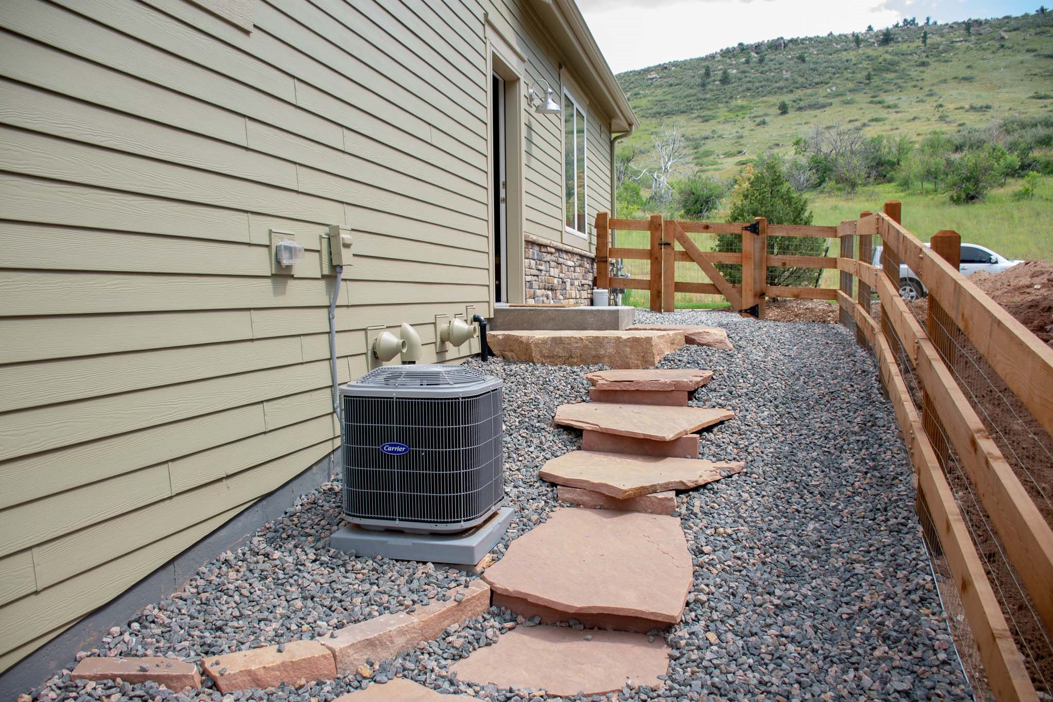 Tiered flagstone pathway in Lyons, CO 2019
