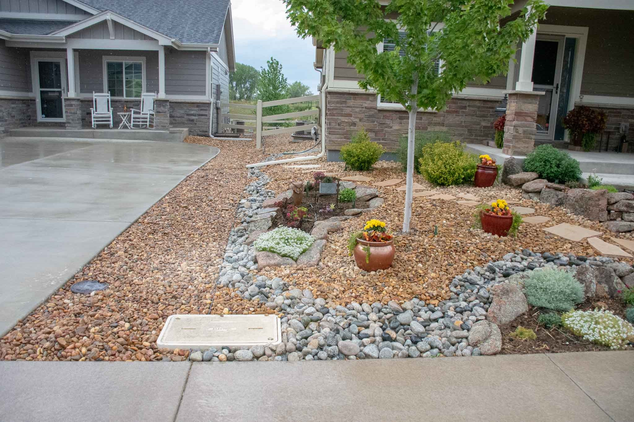 Front yard xeriscape that Tri City designed and completed in Loveland, CO 2019