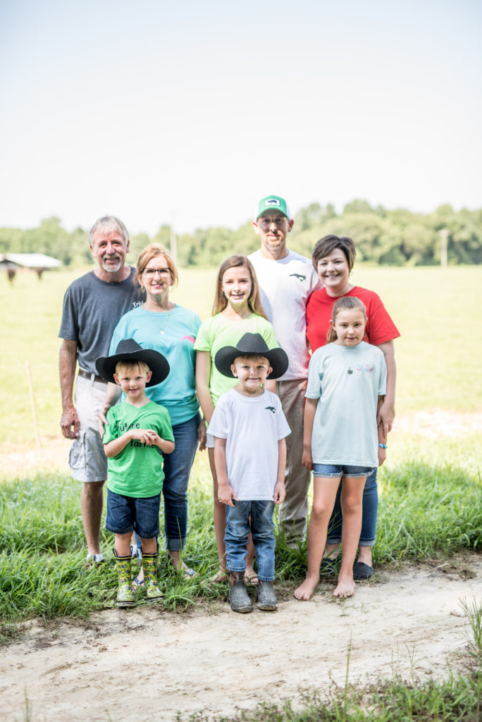 Morris Murphy with wife, Linda. Also pictured is his son Justin with wife Julie and children Adeline and Tate. Morris and Linda's daughter's children are also pictured--Jenna and Cason. Their daughter, Jennifer, works for Smithfield Foods and is married to Monty.
