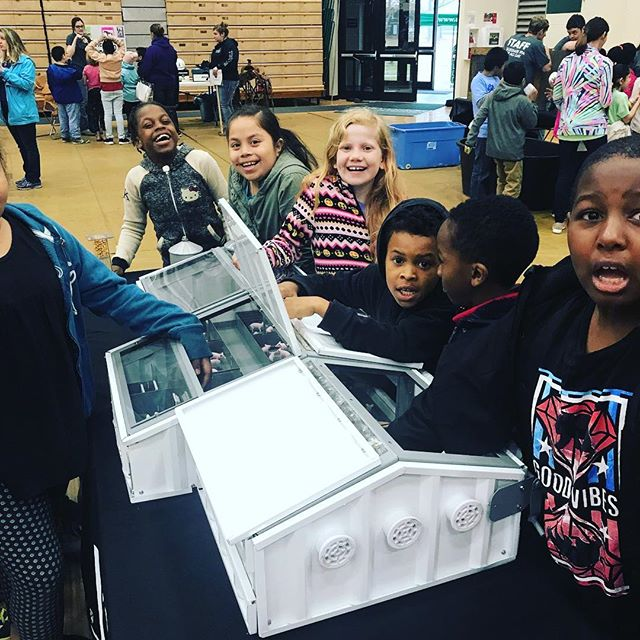 As you can see by their faces, there were a bunch of excited 3rd graders at the University of Mount Olive CFFA Ag Day! We loved sharing all about pig farms with them! #realpigfarming #ncfarmfamilies #ncag #ageducation #ag #agriculture