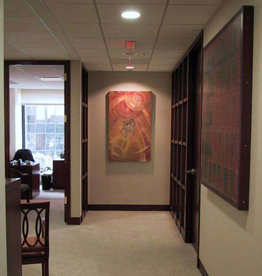 DEERFIELD MANAGEMENT - We worked closely with this corporate client over a period of time to amass a warm, sophisticated collection of fine art that reflected the philosophy of the