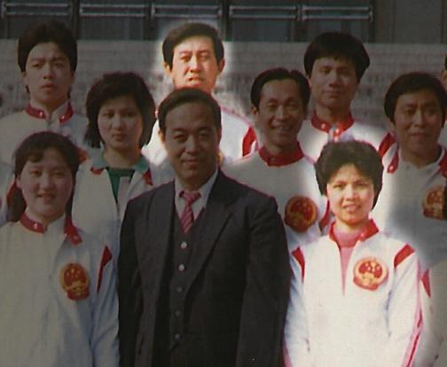 Grandmaster Cheng and Chen Zhenglei on the 1988 National Tai Chi team.