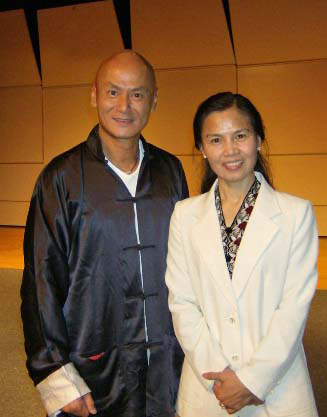 Grandmaster Cheng with Hong Kong actor Gordon Liu