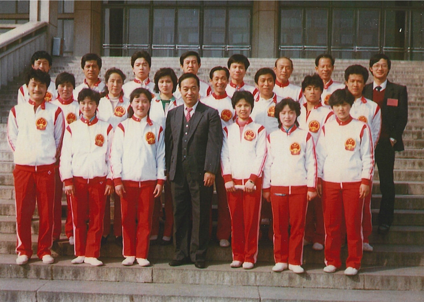 Grandmaster Cheng (front frow, third from right) with the 1988 Chinese National Tai Chi Team