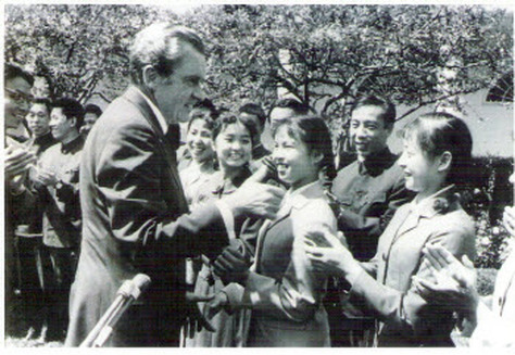 Grandmaster Cheng meeting Richard Nixon at the White House