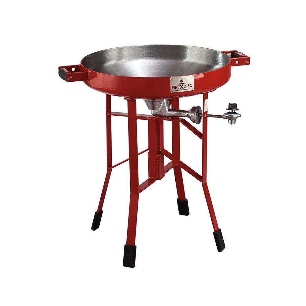 FireDisc - Deep 24%22 Backyard Plow Disc Cooker - Fireman Red | Portable Propane Outdoor Camping Grill.jpg