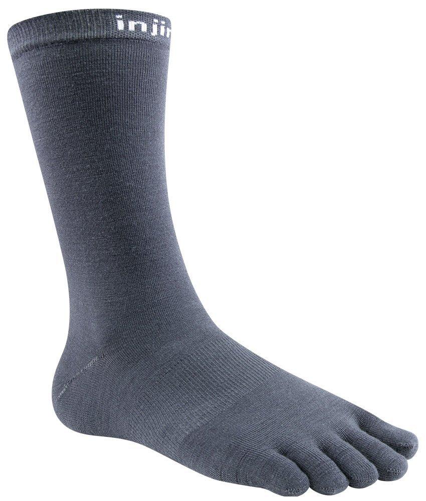 Injinji Liner Crew NuWool Socks (Medium, Charcoal) .jpg