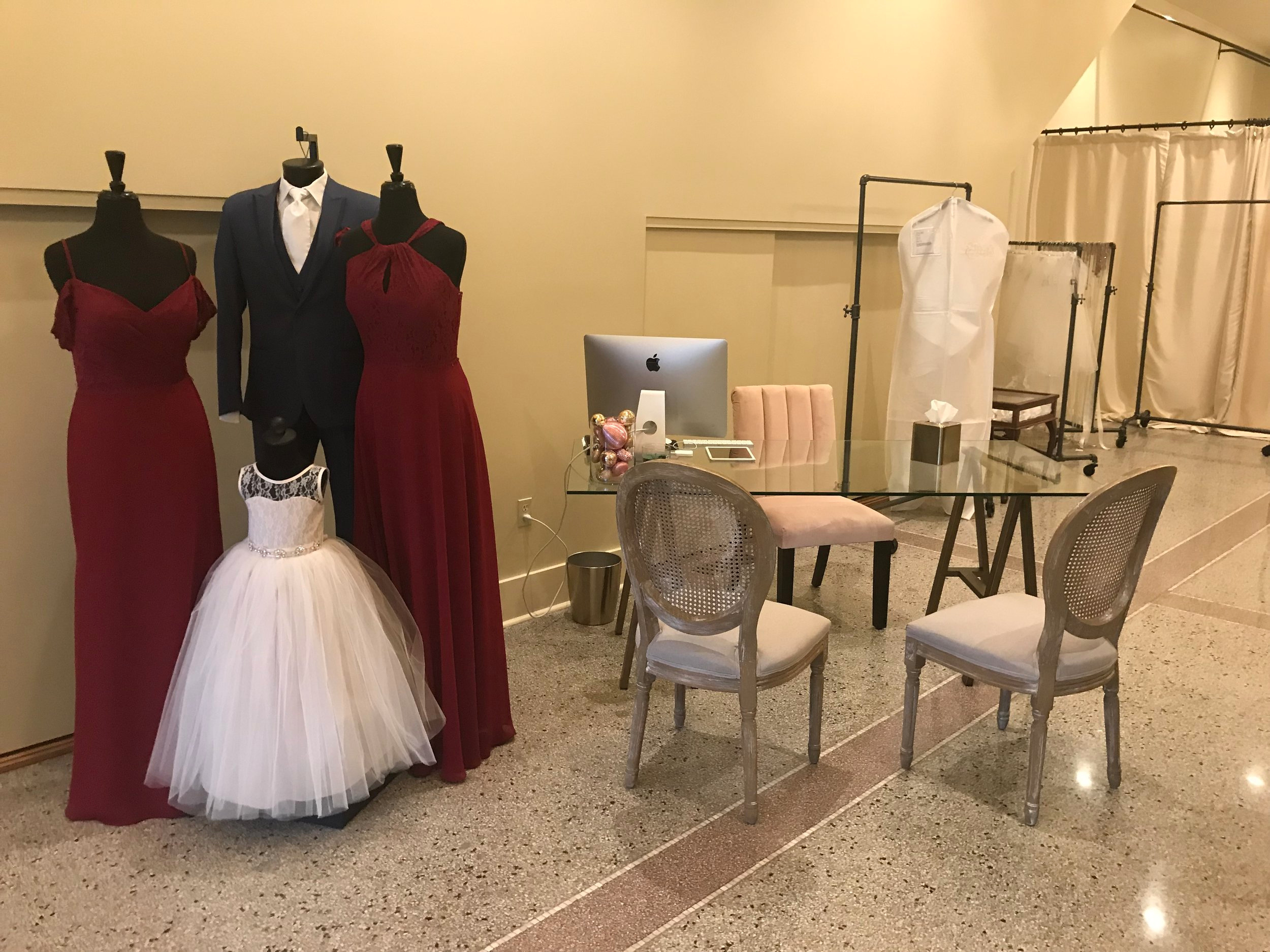 Checkout Area at Ellen's Bridal & Dress Boutique in Wabash, Indiana