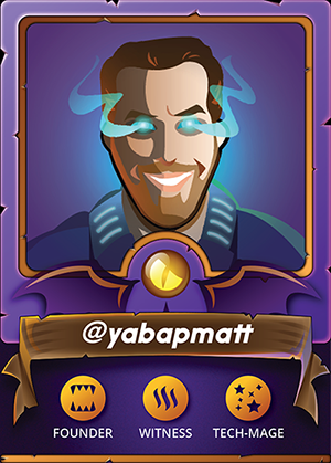 """YABAPMATT- Co-founder, CFO   Matt is a talented developer with 15 years of commercial coding experience. He's the brains behind the program. He took the idea of """"let's make a game"""" and put it into collectible alpha in under month. He built the decentralized exchange in a day. He's brilliant and is leading the development of the game.  Yabapmatt is CFO and has the skill necessary to construct the code for fighting, trading, mining, and playing! It's under two months and already we accept various forms of payment, can collect cards, level cards, trade cards, we'll be fighting by the time this kickstarter closes.   On the Chain:    @yabapmatt"""