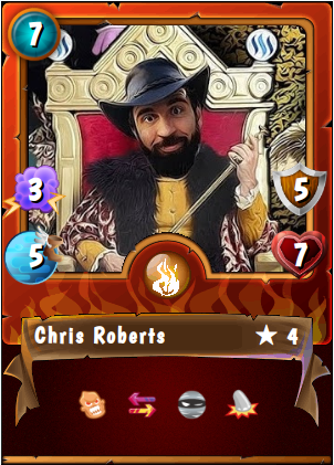 CHRIS ROBERTS - Lore Master     Chris Roberts has been playing games all his life, and is thrilled to have his chance to write stories that will enrich and support this amazing game. Chris is a lover of reading, writing, fantasy. A student of theatre and literature, he is Inspired by such authors as J.R.R. Tolkien, Frank Herbert and Isaac Asimov. Everything is stories, and stories can tell you everything. Chris is busy writing interesting things for you to stumble upon while navigating the SteemMonsters website and battling, not to mention more lore every day!   On the Chain:    @chrisroberts     Discord: chrisroberts#5514
