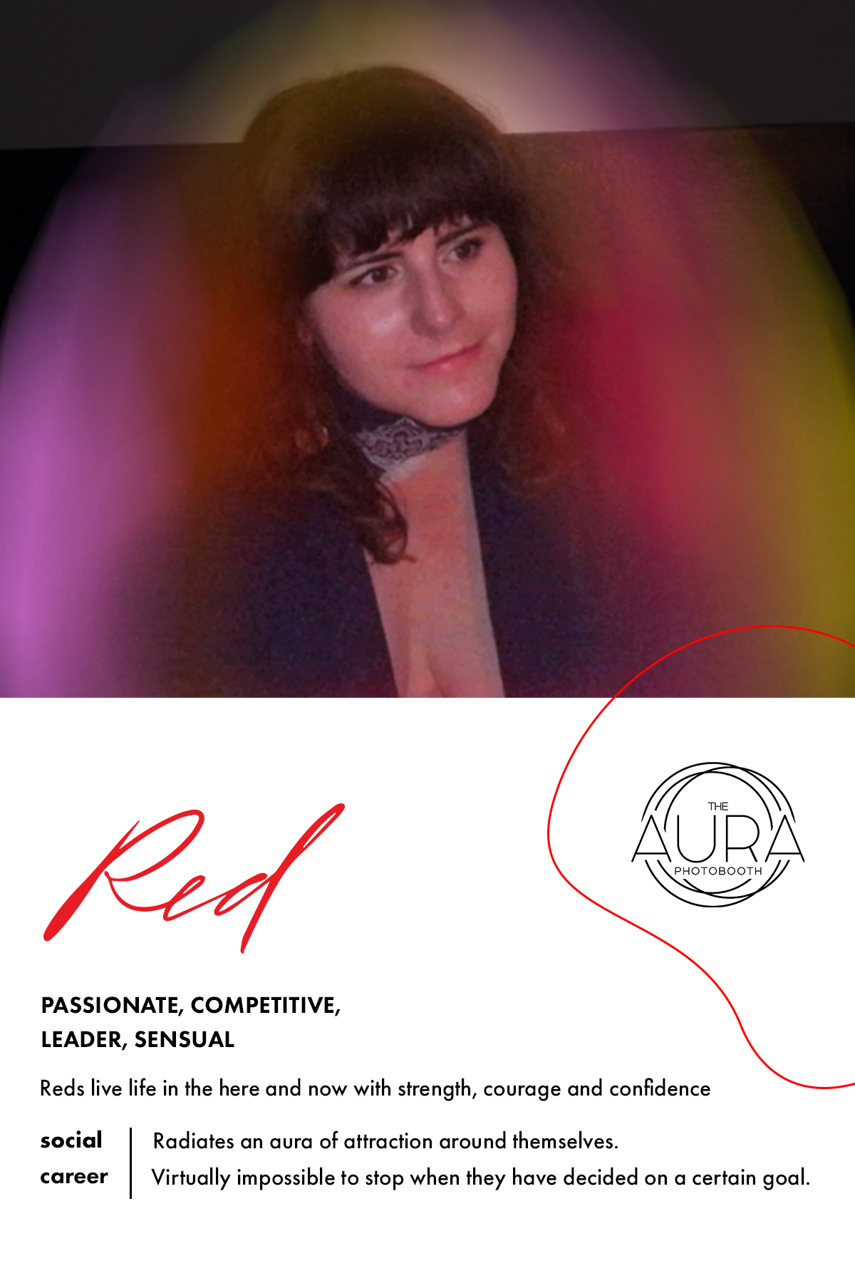 Red Aura Reading | The Aura Photobooth